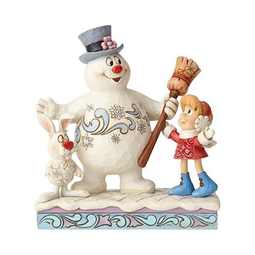 Frosty the Snowman Jolly Happy Friends Frosty, Karen, and Hocus Pocus Statue by Jim Shore