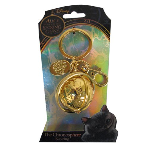 Alice in Wonderland Chronosphere Pewter Key Chain