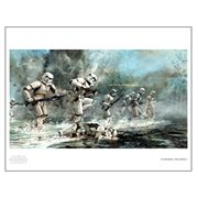 Star Wars Storming Troopers by Cliff Cramp Paper Giclee Art Print