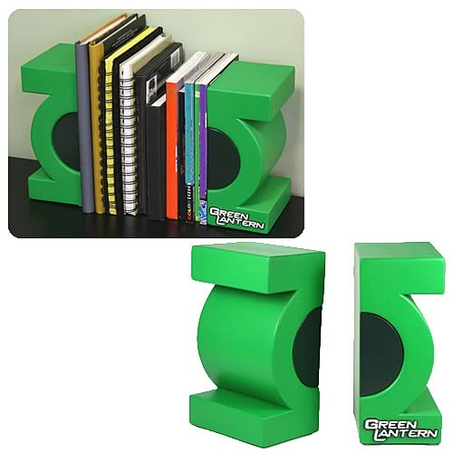 Green Lantern Movie Symbol Bookends
