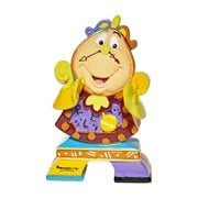 Disney Beauty and the Beast Cogsworth by Romero Britto Mini Statue