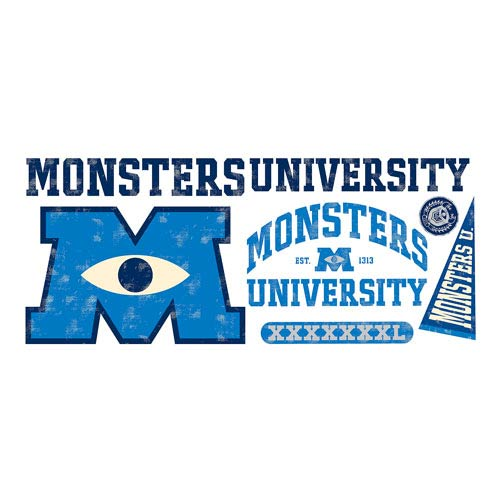 Monsters University Logo Giant Peel and Stick Wall Decal