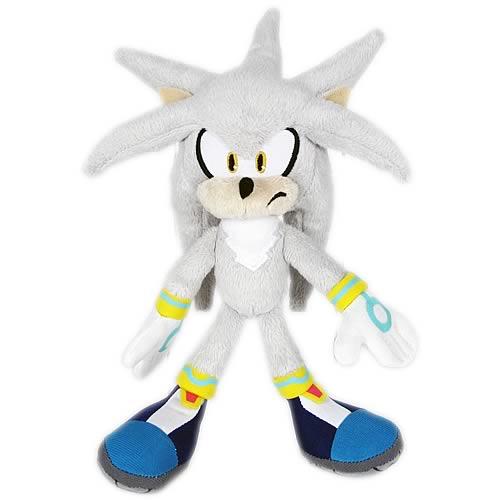 sonic the hedgehog silver 7 inch plush entertainment earth