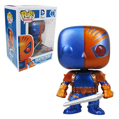 DC Comics Deathstroke Metallic Previews Exclusive Pop! Vinyl Figure, Not Mint