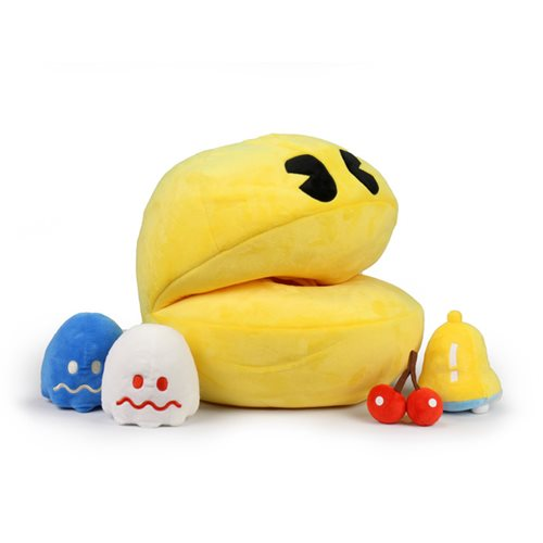 Pac-Man Hungry Pac-Man with Sound Large Plush Set