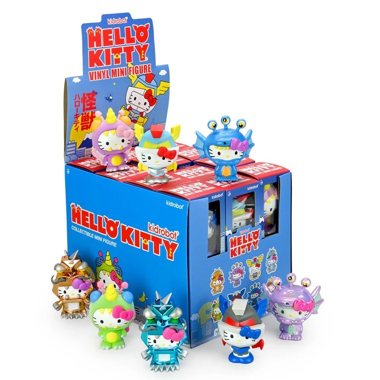 Hello Kitty Kaiju 3 Inch Mini Figure Random 4 Pack