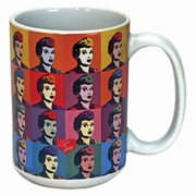 I Love Lucy Warhol Art 14 oz. Mug
