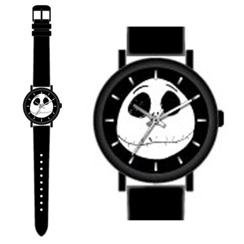 Nightmare Before Christmas Jack Skellington Black Strap Watch
