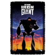 Iron Giant Poster Woven Tapestry Throw Blanket