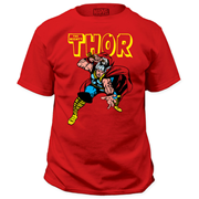 The Mighty Thor War Hammer Red T-Shirt