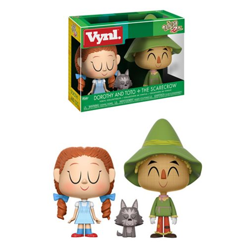 Wizard of Oz Dorothy and Scarecrow Vynl. Figure 2-Pack
