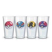 Pokemon Pokeballs Pint Glass 4-Pack