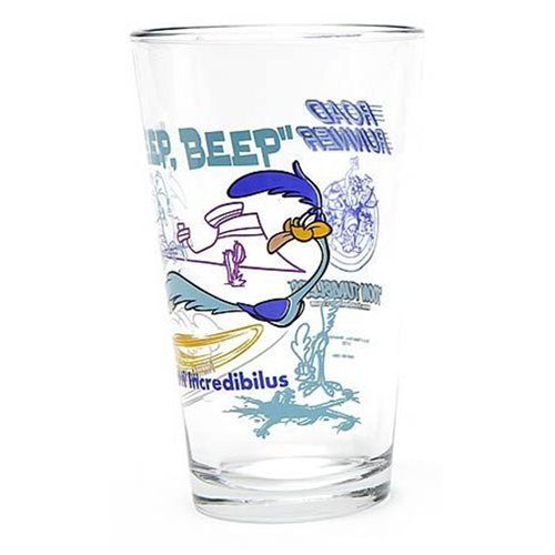 Looney Tunes Road Runner Toon Tumbler Pint Glass