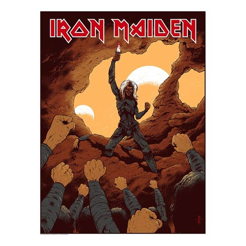 Iron Maiden To Tame a Land by Arik Roper Silk Screen Art Print