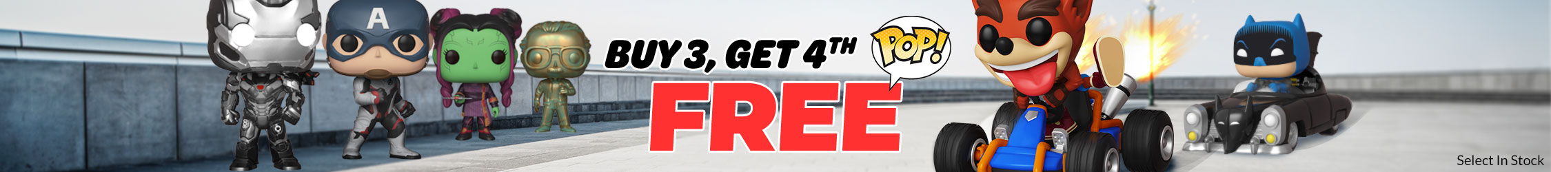 Buy 3 Get 4th Free on Select In Stock Select Funko Pop