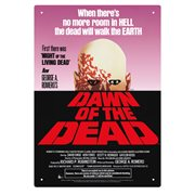 Dawn of the Dead One Sheet Tin Sign