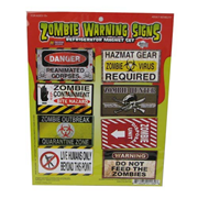 Zombie Danger Signs Previews Exclusive Magnet Set