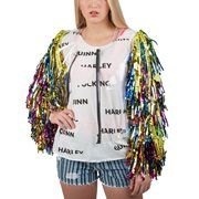 Birds of Prey Harley Quinn Caution Tassel Cosplay Jacket