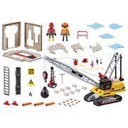 Playmobil 70442 Construction Cable Excavator with Building Section