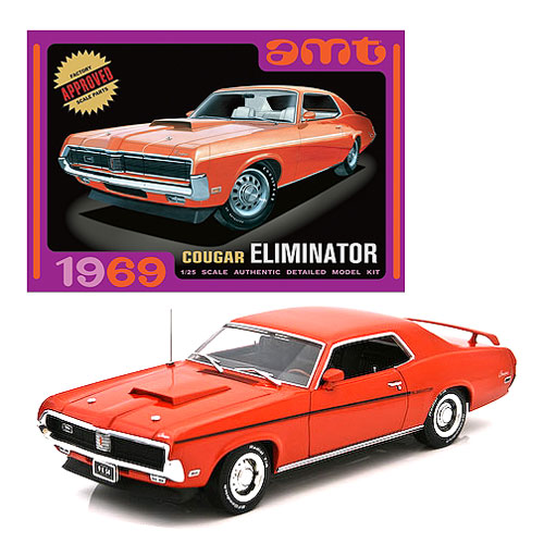 1969 Mercury Cougar Eliminator Orange Model Kit, Not Mint