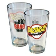 Big Bang Theory Bazinga! Logo Pint Glass