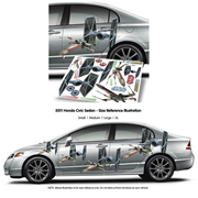 Star Wars TIE Fighter and X-Wing FanWraps Car Decal