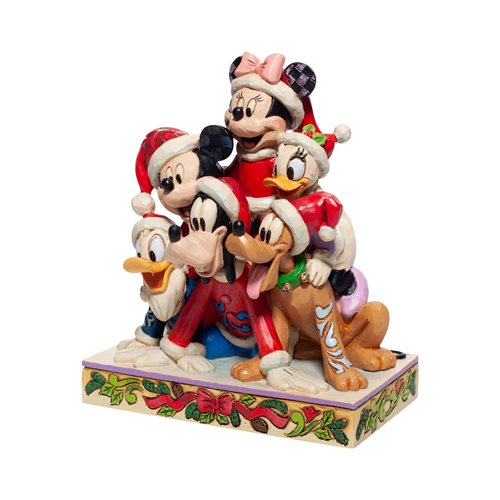Disney Traditions Mickey and Friends Christmas Statue by Jim Shore