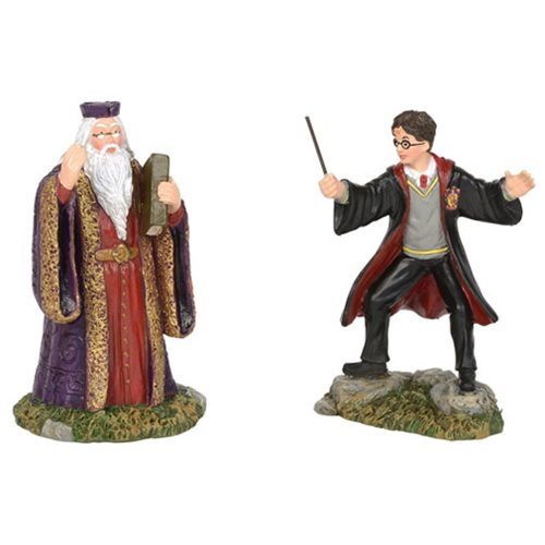 Harry Potter Village Harry and Dumbledore Mini-Figure Set