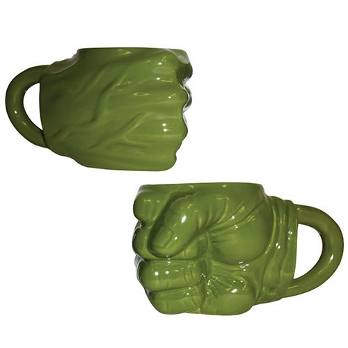 Hulk Fist Sculpted Ceramic Mug