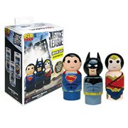 Justice League Pin Mate Wooden Figure Set of 3 - Convention Exclusive