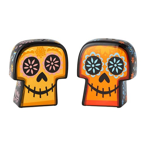 Coco Sugar Skulls Salt and Pepper Shaker Set
