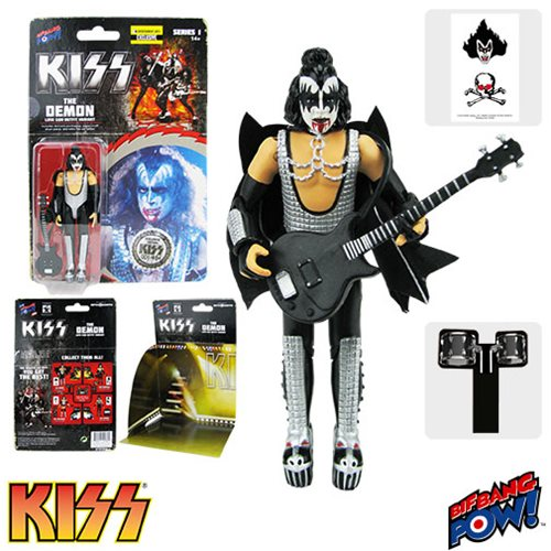 KISS Love Gun The Demon Bloody Variant 3 3/4-Inch Action Figure Series 1 - Entertainment Earth Exclusive