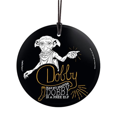 Harry Potter Dobby a Free Elf StarFire Prints Hanging Glass Ornament