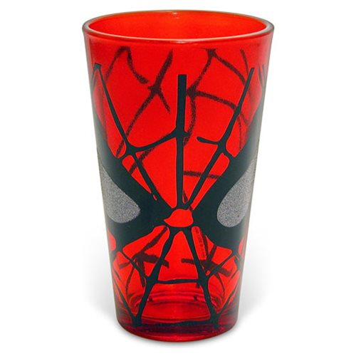 Spider-Man Eyes Glitter 16 oz. Pint Glass
