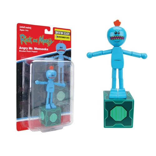 Rick and Morty Angry Mr. Meeseeks Push Puppet - Con. Exclu.