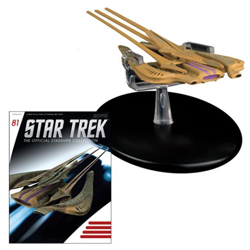 Star Trek Starships Xindi Reptilian Die-Cast Vehicle with Collector Magazine #81
