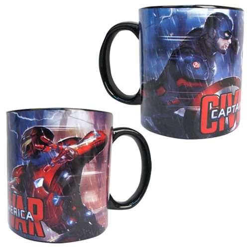 Captain America: Civil War Captain America vs. Iron Man Lightning Fight 20 oz. Jumbo Ceramic Mug