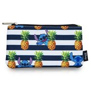Lilo & Stitch Stripes Pineapple Print Travel Cosmetic Bag