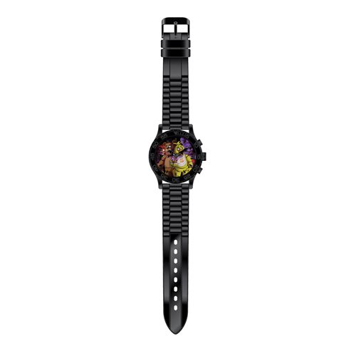 Friday Nights at Freddy's Black Rubber Strap Watch