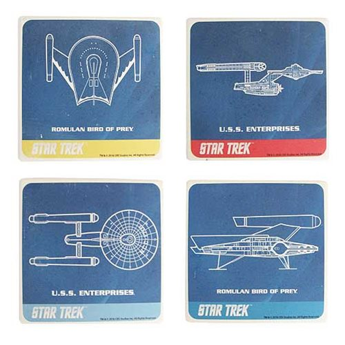 Star Trek Ceramic Coaster 4-Pack