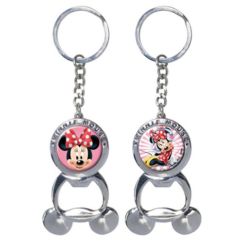 Minnie Mouse Bottle Opener Pewter Key Chain