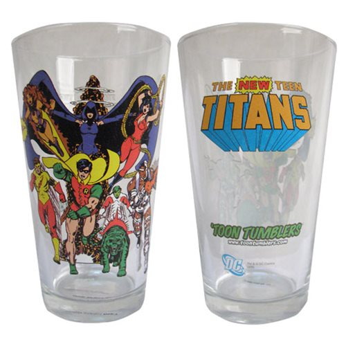 Teen Titans Toon Tumbler Pint Glass