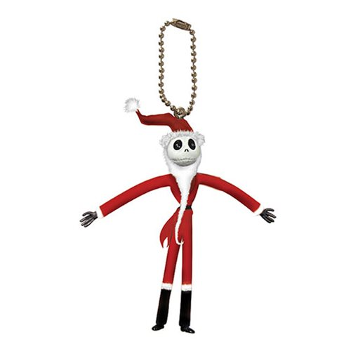 Nightmare Before Christmas Jack Santa Bendable Figure Key Chain