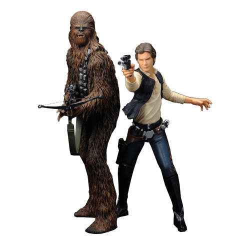 Star Wars Han Solo and Chewbacca ArtFx+ Statue