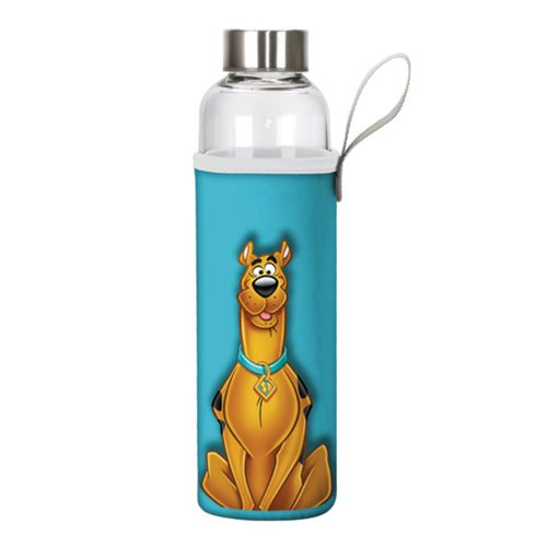 Scooby-Doo 20 oz. Glass Water Bottle with Neoprene Sleeve