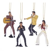 Elvis Presley 2 1/2-Inch Resin Ornament Gift Set 4-Pack